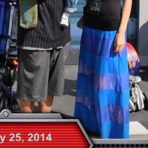 Pretty blue maxi skirt